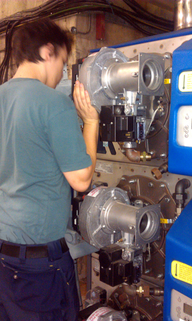 Servicing modular boiler array
